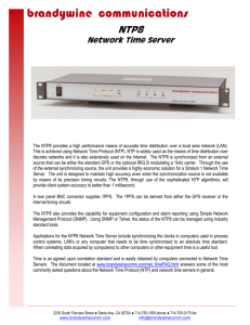NTP8 - Brandywine Communications