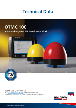 Technical Data OTMC 100