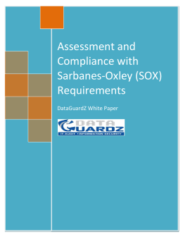 Assessment and Compliance with Sarbanes