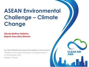 ASEAN Environmental Challenge – Climate Change