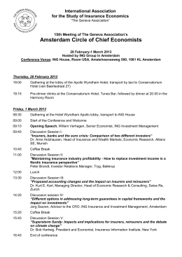 Amsterdam Circle of Chief Economists