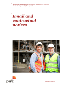 Email and contractual notices