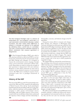 New Ecological Paradigm (NEP) Scale