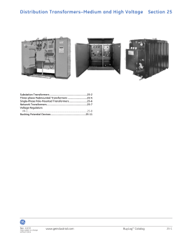 Section 25: Distribution Transformers–Medium and High Voltage