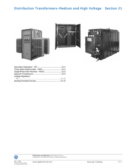 Distribution Transformers–Medium and High Voltage Section 21