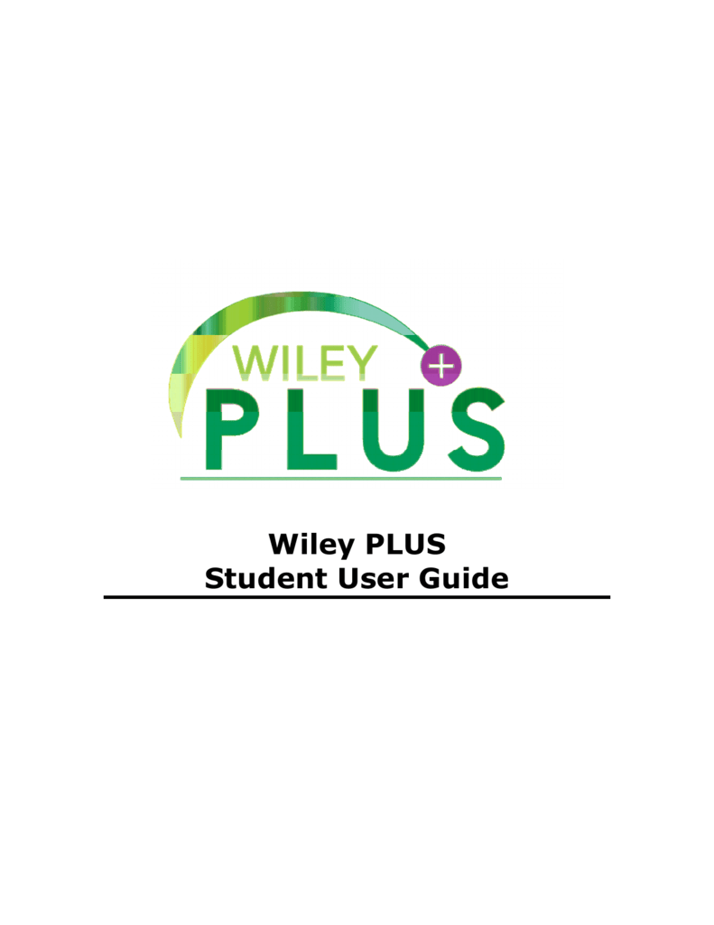 wiley plus student user guide rh studylib net WileyPLUS Promotional Code Wileyplus Accounting