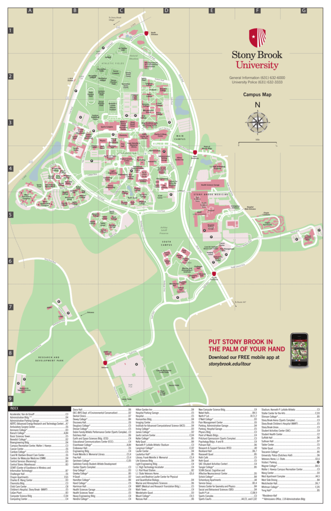 Campus Map Stony Brook University