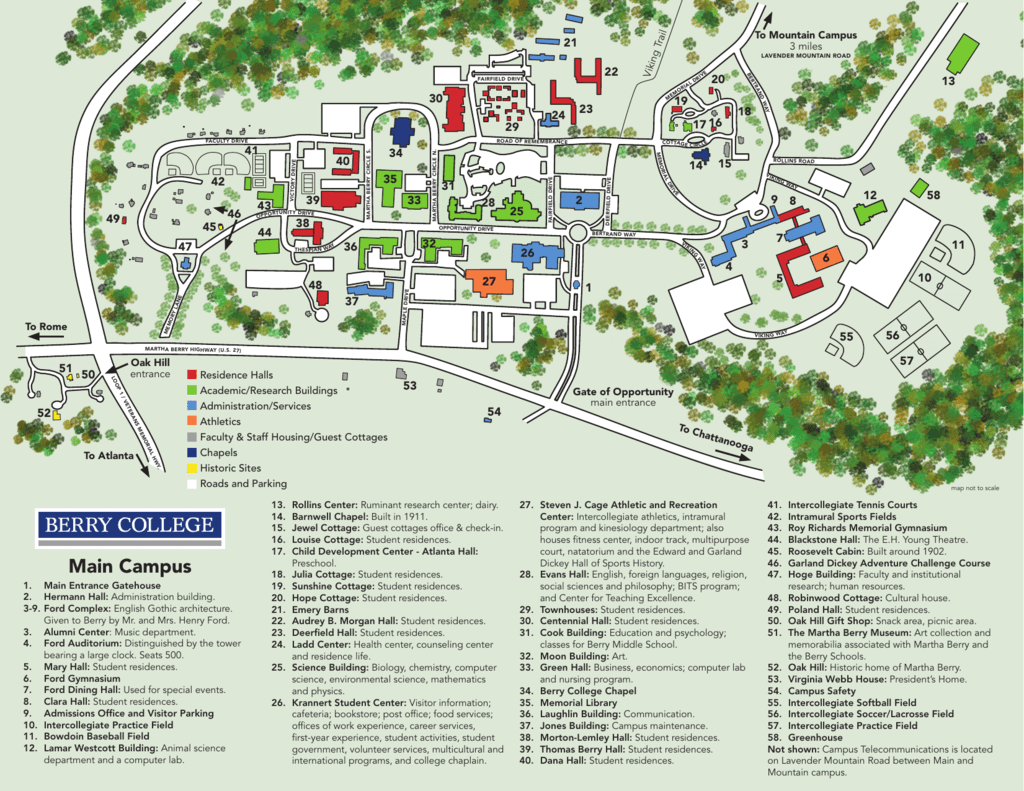 Campus Map Berry College