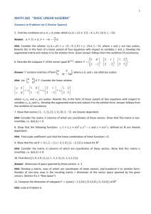 "MATH 260 ""BASIC LINEAR ALGEBRA"""