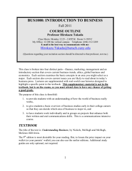 BUS1000: INTRODUCTION TO BUSINESS - Blogs@Baruch