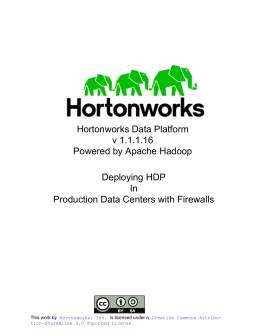 Deploying HDP In Production Data Centers with Firewalls