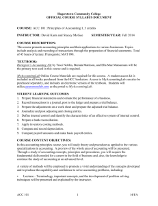 Eco 202 Master Syllabus Hagerstown Community College