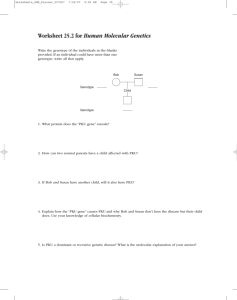 Worksheet 25.2 for Human Molecular Genetics