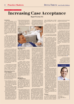 Increasing Case Acceptance - Dental Tribune International
