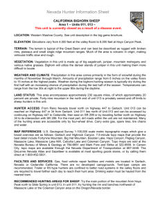 Nevada Hunter Information Sheet
