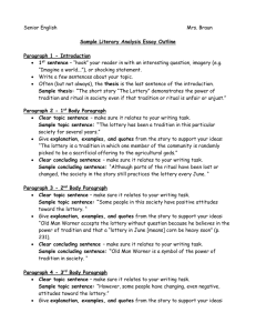 Sample Literary Analysis Essay Outline