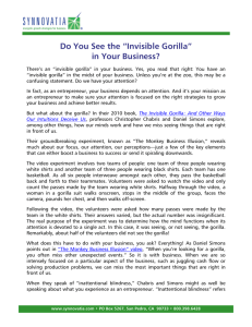 "Do You See the ""Invisible Gorilla"" in Your Business?"