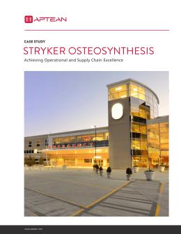 stryker corporation case study solution