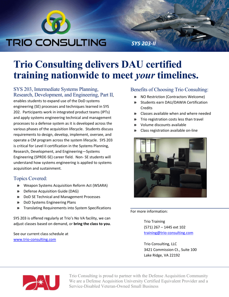 Sys 203 Ii Trio Consulting