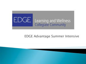 EDGE Advantage Summer Intensive - EDGE Learning and Wellness