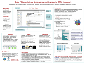 Tablet PC-Based Indexed Captioned Searchable Videos for STEM