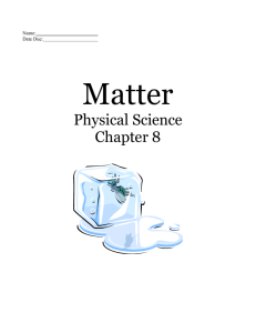 Matter Test: Review