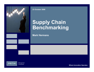Supply Chain Benchmarking - Transportation Research Board