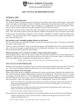 general tips ada style of referencing ada style of referencing