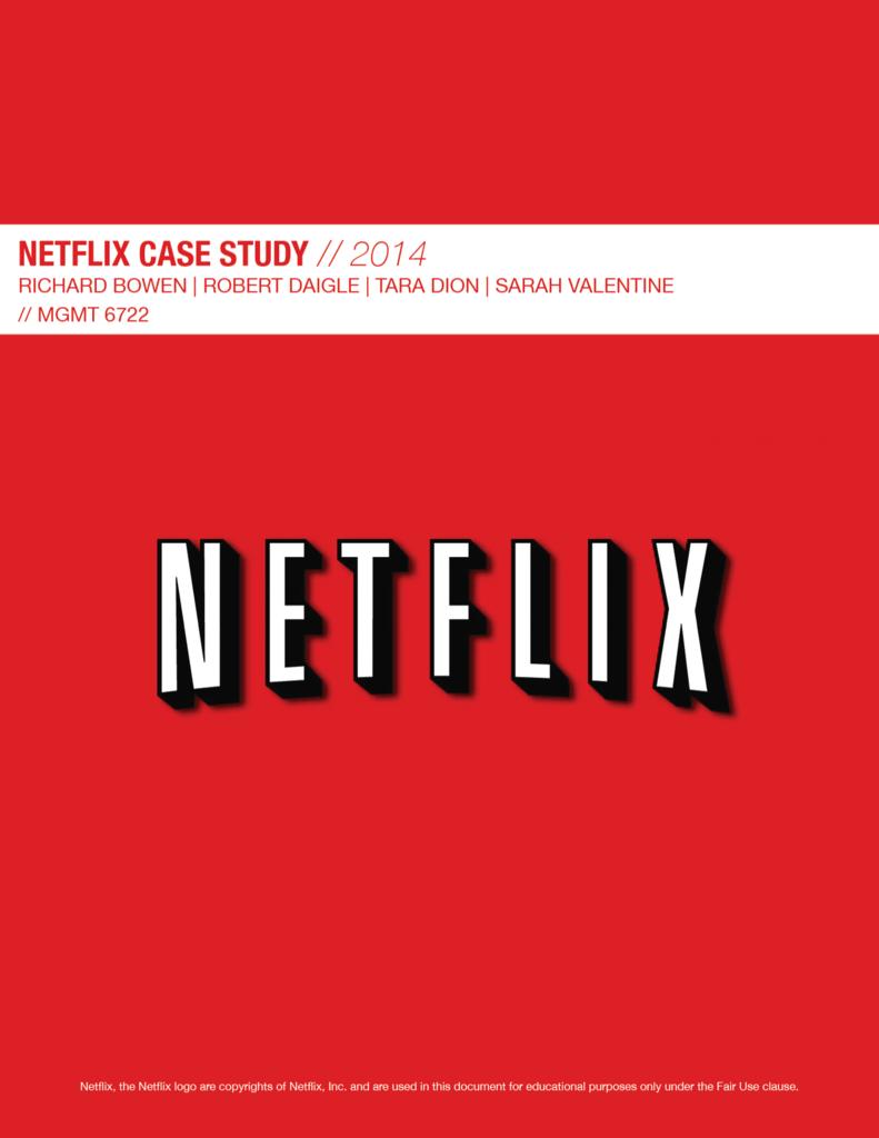 Netflix Case Study PDF