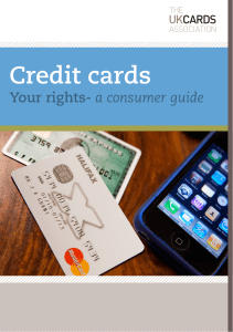 Consumer guide for credit cards Credit cards. Your rights
