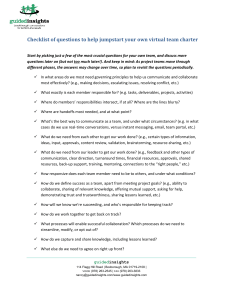 Checklist of questions to help jumpstart your own virtual team charter