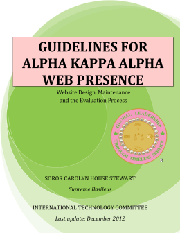 Guidelines for Alpha Kappa Alpha Web Presence
