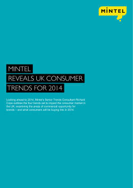 Mintel reveals UK consUMer trends for 2014