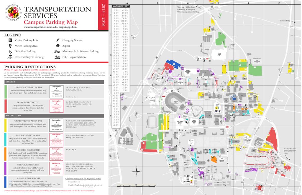 Campus Parking Map - DOTS