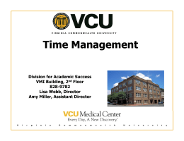 Time Management - VCU Division for Academic Success