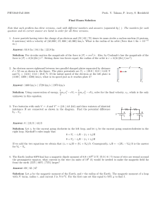 Exam 4: Problems and Solutions
