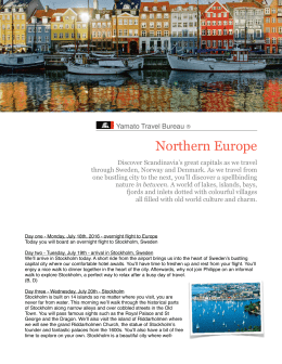 Introduction to Northern Europe 2016