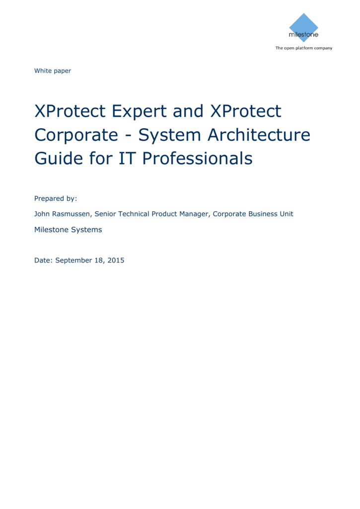 XProtect Expert and XProtect Corporate