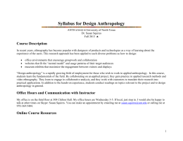 syllabus for design anthropology - unt anthropology, Powerpoint templates