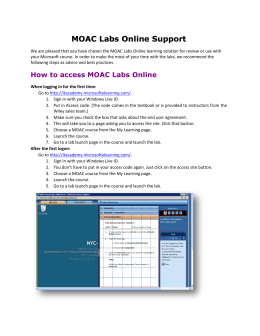 MOAC Labs Online Support