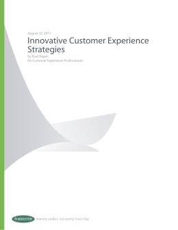 Innovative Customer Experience Strategies