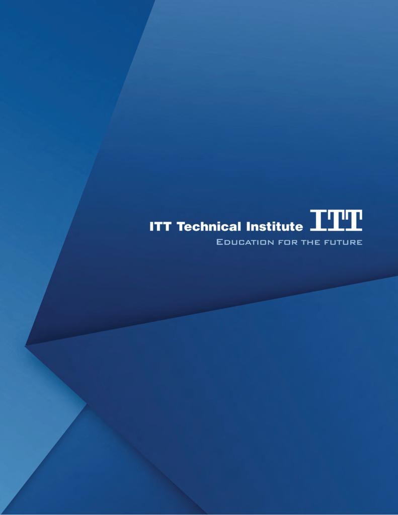Catalog Itt Technical Institute