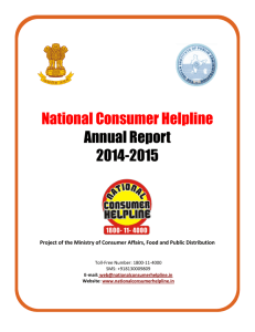 annual report-2014-15 - National Consumer Helpline