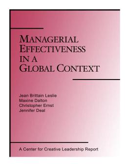 organizational behavior in a global context