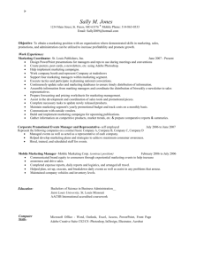 Sample Marketing Resume - Staffing Solutions Inc