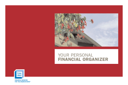 your personal financial organizer