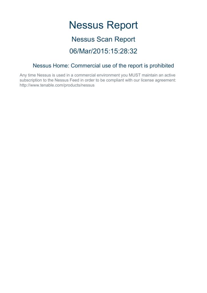 Nessus Report