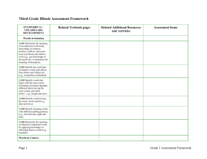 Third Grade Illinois Assessment Framework