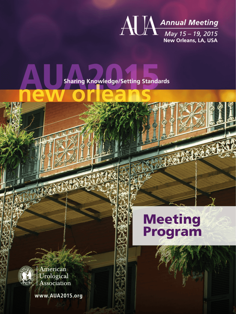 New Orleans AUA2015 Annual Meeting