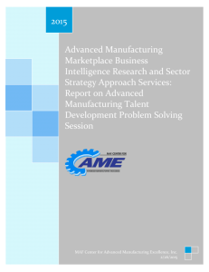 Advanced Manufacturing Marketplace Business Intelligence